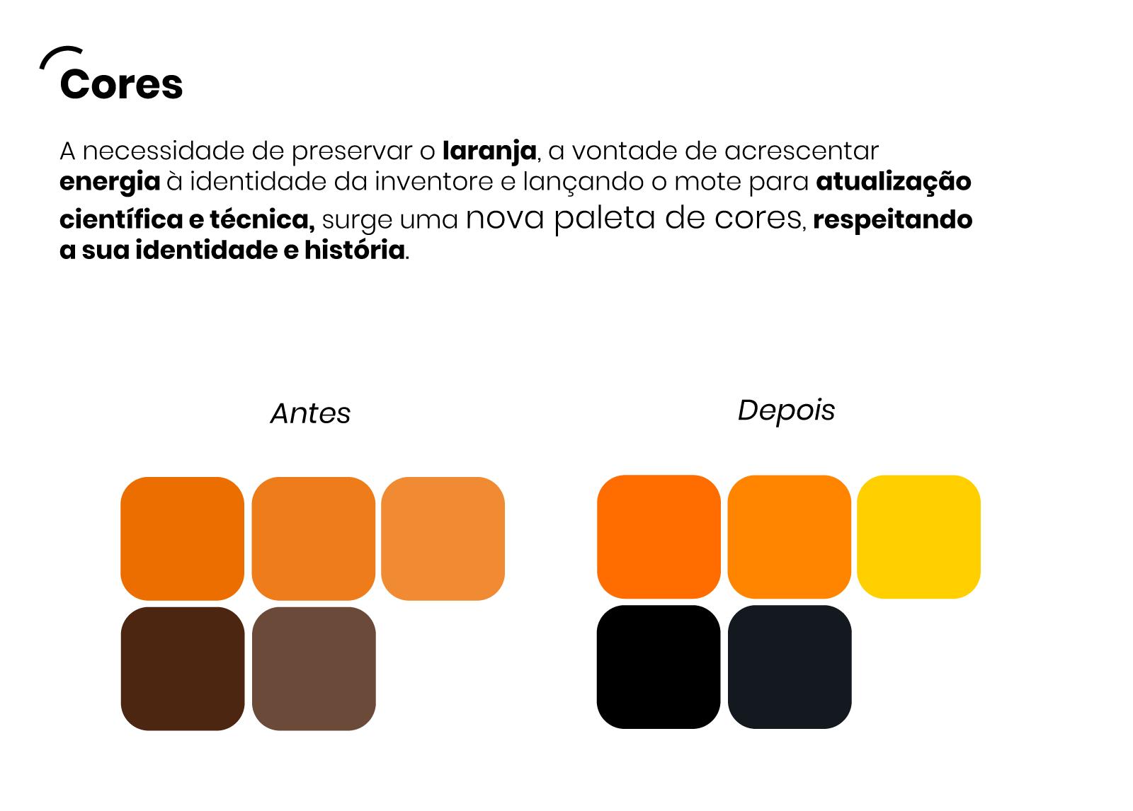 Estudo de cores - Rebrand inventore